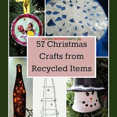 Go green this Christmas. Check out our collection: 57 Christmas Crafts from Recycled Items.