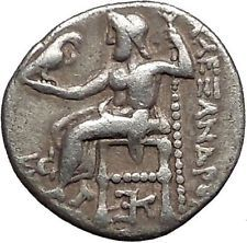 ALEXANDER III the GREAT 318BC Hercules Zeus Ancient Silver Greek Coin i55977