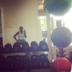 Pin for Later: Let These Celebrities Inspire Your Next Workout Session  Just another day working out for Venus Williams.