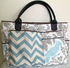 Feather's Flights {a creative, sewing blog}: Birds of a Feather Diaper Bag