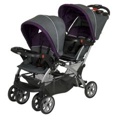 Our double stroller.  Love.  Fits through doorways, has awesome sunshades, and holds an infant carrier.