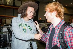 Ed and Harry at the I Heart Music Awards 2014