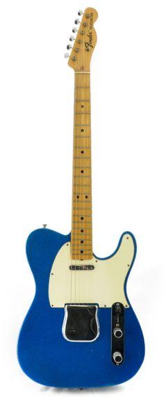 FENDER Telecaster Blue Sparkle Maple Fretboard 1969 | Chicago Music Exchange