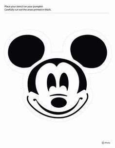 PUMPKIN CARVING TEMPLATES: DISNEY MICKEY MOUSE AND MINNIE MOUSE ...