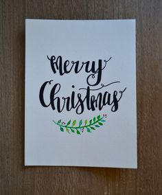Merry Christmas - Holiday watercolor brush lettering artwork