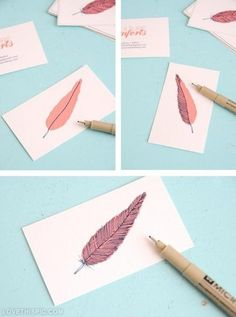Diy Business Card Design Crafts Do It Yourself Art Tips Ideas