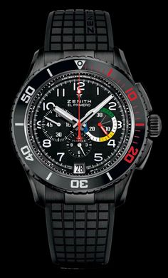 Zenith has launched its new El Primero Stratos Flyback Rainbow watch for 2013. The new model is a boutique exclusive, and it is issued in a 250-piece limited edition.
