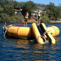 Island Hopper 20 ft Acrobat Water Trampoline. LOVE!!