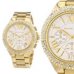 Armbanduhr damen gold  Damen-Armbanduhr Michael Kors MK5896 Michael Kors… | Michael Kors ...