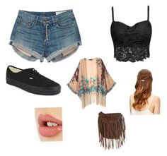 """""""Untitled #5"""" by elianag542 on Polyvore featuring rag & bone, Glamorous, Vans and Charlotte Tilbury"""