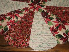 Beautiful Christmas Dresden Plate Poinsettia  Table by sewcalico65, $28.50