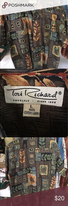 Men's short sleeve shirt Comfortable soft cotton shirt from a famous Hawaii manufacturer Tori Richard Shirts