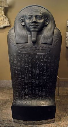 Sarcophagus of Horkhebit, Late Period, Dynasty ca. 590 b. From Saqqara Basalt Egypt Ancient Egyptian Artifacts, Ancient History, Art History, European History, Ancient Aliens, Objets Antiques, Kemet Egypt, Egypt Art, African History