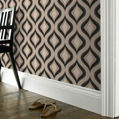Dinning Room Wallpaper Need   Trippy: Charcoal   Graham & Brown