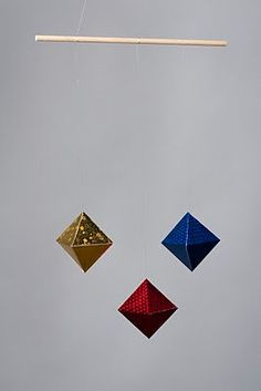 The Octahedron Mobile  (A Classic Montessori Mobile) by bellascasa on Etsy https://www.etsy.com/listing/72874084/the-octahedron-mobile-a-classic