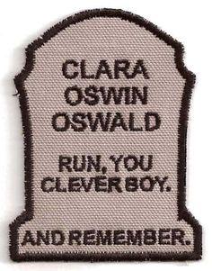 Doctor Who, Clara Oswin Oswald Patch. $8.00, via Etsy.
