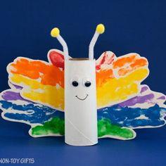 Handprint Rainbow Butterfly