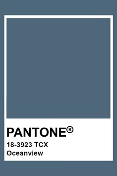 PANTONE 18-3923 TCX Oceanview Pantone Tcx, Pantone Swatches, Color Swatches, Pantone Colour Palettes, Pantone Color, Textiles, Web Colors, Color Studies, Colour Board