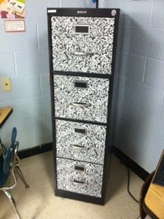 File cabinet make over with contact paper