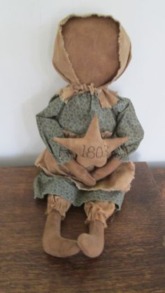Primitive Doll with star by Bettesbabies on Etsy, $39.00