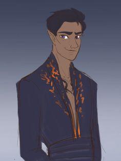 parasoljaune: Have a very messy Rhys sketch. I... - SnCinder