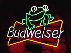 "bud light frogs add | BUDWEISER BUD LIGHT FROG Beer Bar Neon Sign Free Shipping 17""x15 ..."