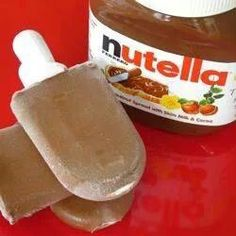 1 cup milk to 1/3cup nutella. Makes 6 fudgesicles