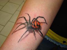 Itsy Bitsy SPIDER!! Dark Art Tattoo, Body Art Tattoos, Black Widow Tattoo, Itsy Bitsy Spider, Weird Art, Future Tattoos, Skin Art, Tatting, Crazy Art