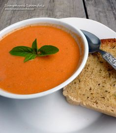 From the number of tomato soup recipes I'm posting this year, you'd think I was a tomato soup fanatic or something. In truth, I haven't historically even liked tomato soup at all. I used to hate it...