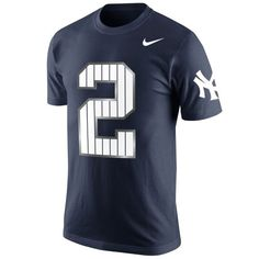 Nike Derek Jeter New York Yankees Commemorative Pinstripe Number T-Shirt -  Navy Blue New 8a7a4b19d119