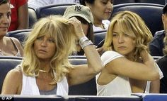 At 63 her mother Goldie Hawn is still as glossy, blonde and glowing as she was at half her age, and Kate appears to have inherited her good genes. Bill Hudson, Goldie Hawn, Kate Hudson Hair, Good Genes, Forever, Hairstyles With Bangs, Fall Hair, Cut And Color, Hair Inspo