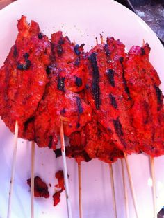 Tandoori Chicken Grilled on a cast iron stove!!!