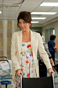 my fave character from the 'Nurse Jackie' series, Dr. O'Hara - I LOVE the dress she's wearing. wonder where it's from