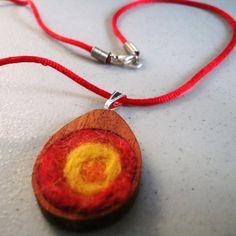needlefelted pendant