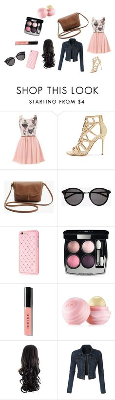 """Simply Pink Spring look #1"" by cutevampirekitty200 ❤ liked on Polyvore featuring Sergio Rossi, Yves Saint Laurent, Chanel, Bobbi Brown Cosmetics and Eos"