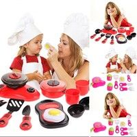 Kid's DIY Beauty Kitchen Cooking Toy Role Play Toy Set Educational Toys
