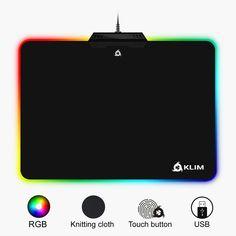 KLIM Mauspad RGB Chroma - Gewebe mit hoher Genauigkeit - Lichteffekte - Verschiedene Moden - Gaming Gamer Videospiele  EUR 29,90