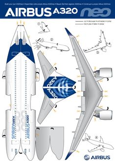 Build your own Airbus A320neo. Download the original size file here http://www.airbus.com/fileadmin/media_gallery/files/goodies/cut-outs/paper_cut_out_A320neo.pdf