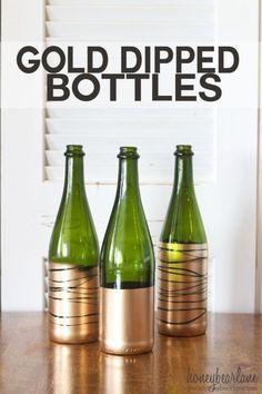 gold dipped bottles