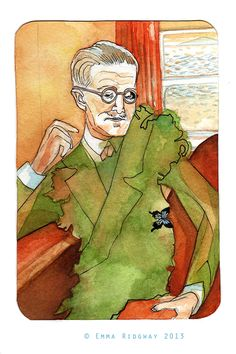 Portrait of James Joyce (for Portraits on Postcards Zine) High Renaissance, James Joyce, Francis Bacon, Writers And Poets, Handmade Books, Zine, Great Artists, Dublin, Authors