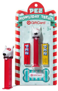 Target Bullseye Gift Card Pez Dispenser 2013 Christmas Exclusive