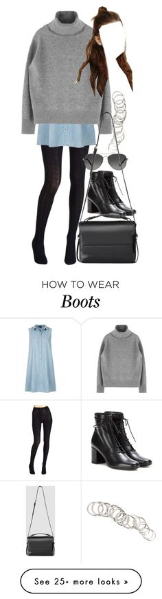 """""""Untitled #8089"""" by nikka-phillips on Polyvore featuring Hue, Topshop, H&M, Michael Kors, Yves Saint Laurent and AllSaints"""
