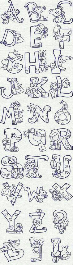 Grand Sewing Embroidery Designs At Home Ideas. Beauteous Finished Sewing Embroidery Designs At Home Ideas. Machine Embroidery Designs, Embroidery Stitches, Embroidery Patterns, Hand Embroidery, Creative Lettering, Lettering Styles, Baby Motiv, Embroidery Alphabet, Alphabet And Numbers