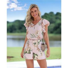 See all posts related hashtag. Look Fashion, Trendy Fashion, Fashion Outfits, Short Floral, Vestido Casual, Frocks, Summer Outfits, Cold Shoulder Dress, Jumpsuit