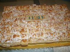 """"""" O Meu Refúgio Culinário! """": ♥ Delícia Folhada, Recheada com Creme Russo, Massa Folhada e Creme de Pasteleiro - bolo de Aniversário p/ o Sogro ♥"""