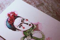 Frida Kahlo Art Sketches, Illustration, Frida Kahlo, Illustrations