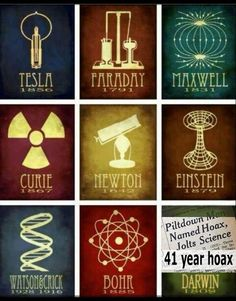 """Nikola Tesla 1850: """"Tesla Coil"""" electrical resonant transformer Micheal Faraday 1791: """"electrolysis"""" direct electric current (DC current) James Maxwell 1831: Magnetic field Marie Curie 1807: radio activity Issac Newton 1642: Astronomy Albert Einstein 1879: space/time theory James Watson & Francis Crick 1928/1916: DNA Neils Bohr 1885: Atomic model Charles Darwin 1809: Origins Fraud  Read our blog at: http://blog.electricitybid.com"""