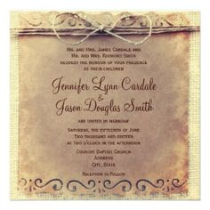 Custom Rustic Country Distressed Vintage Wedding Invites created by RusticCountryWedding. This invitation design is available on many paper types and is completely custom printed. Discount Wedding Invitations, Country Wedding Invitations, Rustic Invitations, Wedding Stationary, Budget Wedding, Wedding Planning, Wedding Ideas, Wedding Stuff, Dream Wedding