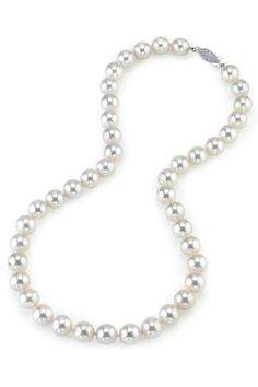 14K White Gold 8-8.5mm Akoya Cultured Pearl Necklace