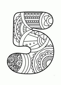 Number 5 Zentangle coloring page from Zentangle Numbers category. Select from 21162 printable crafts of cartoons, nature, animals, Bible and… Star Coloring Pages, Printable Coloring Pages, Coloring Pages For Kids, Coloring Sheets, Coloring Books, Printable Numbers, Printable Crafts, Numbers For Kids, Alphabet And Numbers